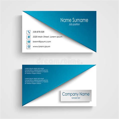 background image on business card template business card with blue white background template stock
