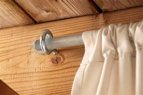 how to make outdoor curtain rods 17 best ideas about outdoor curtain rods on pinterest
