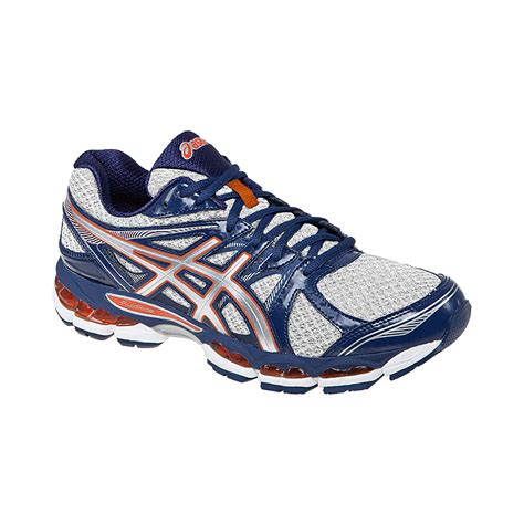 asics s gel evate 2 running shoes silver blue