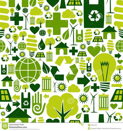 pattern of energy flow in the environment green environment icons pattern background royalty free