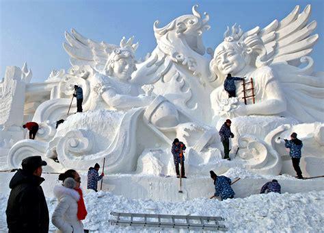 harbin ice festival china frozen city gets ready for harbin international ice