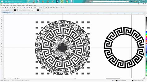 download pattern for corel draw corel draw tips tricks greek pattern clean up a hard