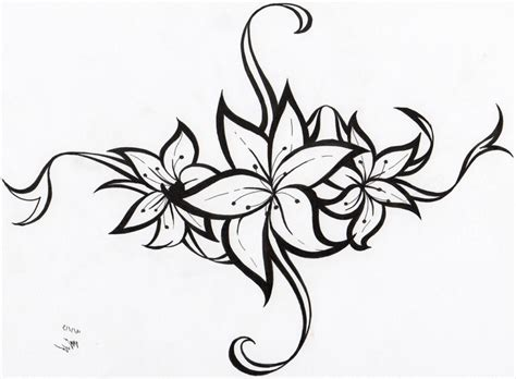 tribal flower tattoo sketch photo 12 real photo