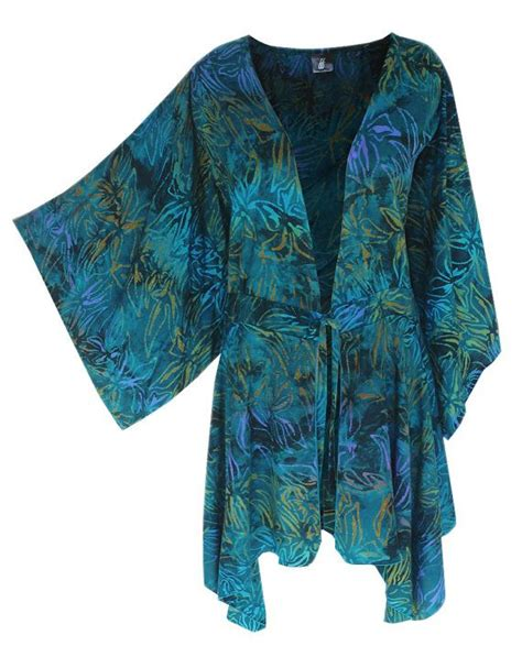 Outer Cardigan Sekala Vest Xl Batik boho kimono plus size clothing with a tunic kimono sleeve boho batik tunic sleeve