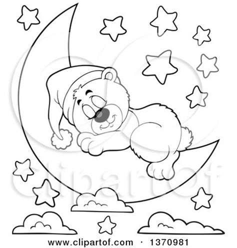 moon bear coloring pages clipart of a cartoon black and white cute bear sleeping on