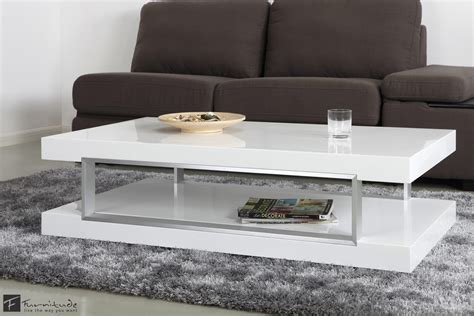 Agatha High Gloss White Coffee Table With Glass Shelf Black And White Coffee Table Books