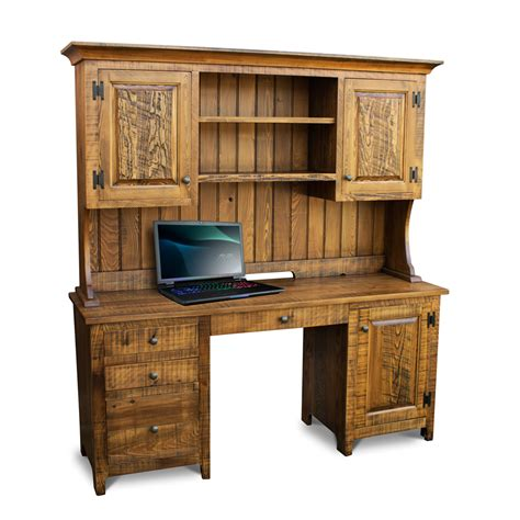 rustic wood desk rustic shaker desk w top
