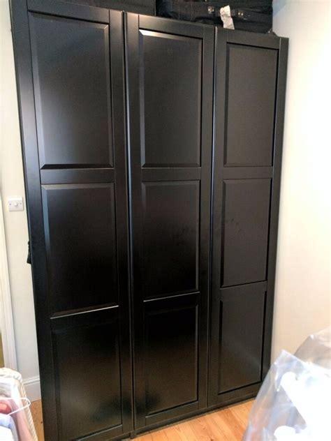 Ikea Pax Black Brown Wardrobe - like new ikea pax black brown wardrobe in fulham