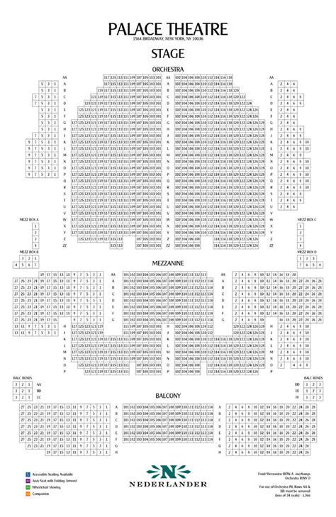 palace seating palace theatre