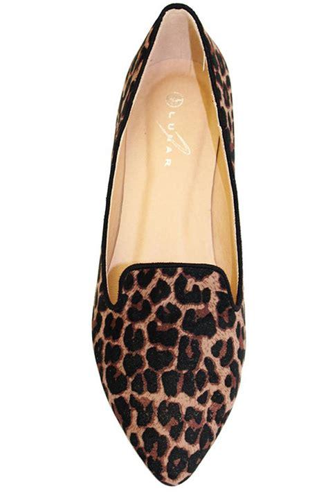 leopard loafer flats flc655 trenton womens slip on leopard print smart pumps