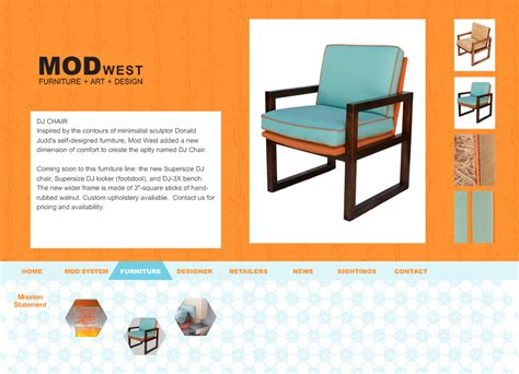 Website Design For Furniture Design Industry Thermo Studios Furniture Website Design 2