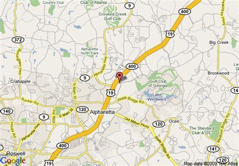 where is alpharetta on a map map of marriott alpharetta alpharetta