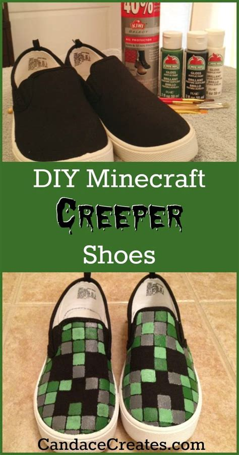diy minecraft shoes diy minecraft shoes kid minecraft shoes and minecraft