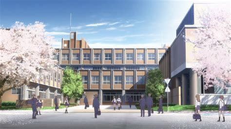 anime school background hanasaku iroha ep 4 back to school moe
