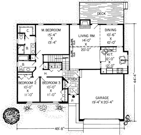 1500 sq ft house plans with garage ranch style house plan 3 beds 2 baths 1500 sq ft plan 312 260