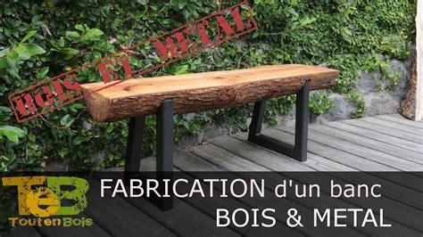 Construction D Un Banc En Bois by Bricolage Rapide Comment Fabriquer Un Banc En Bois Et