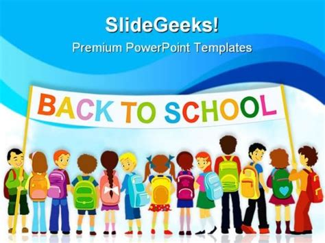 Back To School02 Education Powerpoint Template 1110 Template Presentation Sle Of Ppt Back To School Powerpoint Template
