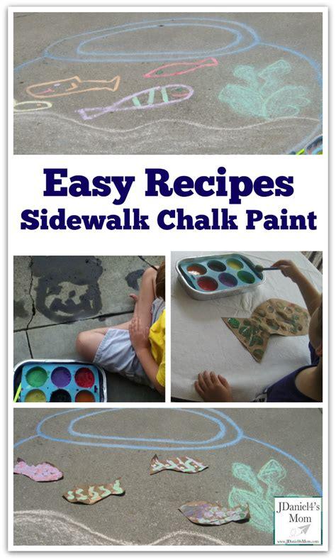 Easy Recipes Sidewalk Chalk Paint