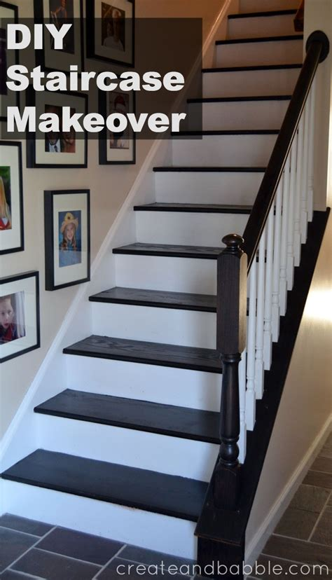 Ideas For Kitchen Cabinets Makeover by Staircase Makeover Create And Babble