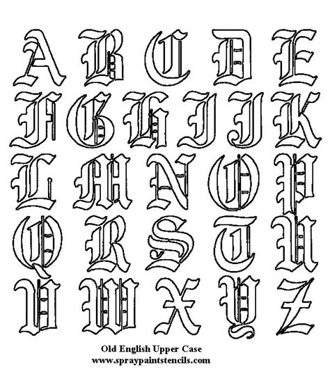 tattoo font outline 25 best ideas about old english tattoo on pinterest old