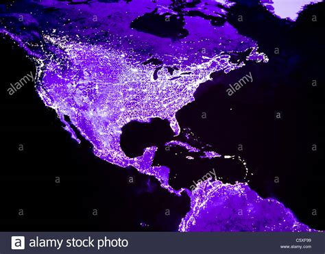 usa lights satellite image of lights of and central