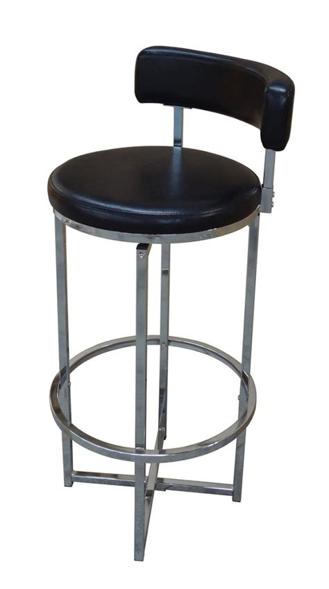 Black Swivel Stool by Swivel Bar Stool Chrome Black
