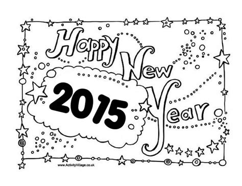 coloring pages for new year 2015 new years eve celebration sign board on 2015 new year