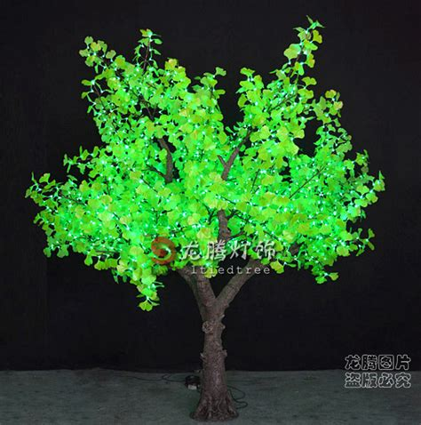 Latest Outdoor Led Tree Lights Artificial Led Ginkgo Tree Green Tree Lights