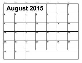printable calendar templates 2015 august 2015 calendar printable template 10 templates