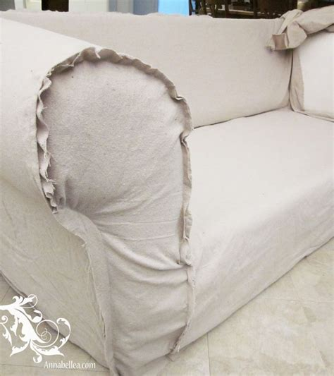 drop cloth sofa slipcover slipcovered goodness