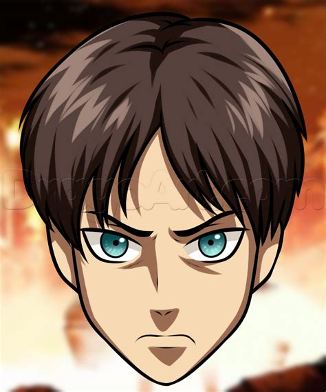 easy drawing how to draw eren easy step by step anime characters anime draw japanese anime