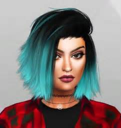 custom hair for sims 4 kylie jenner sim at simpliciaty 187 sims 4 updates