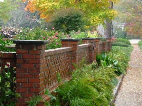 Brick Walls For Gardens Brick Wall Enclosing The Garden Landscaping Stonework