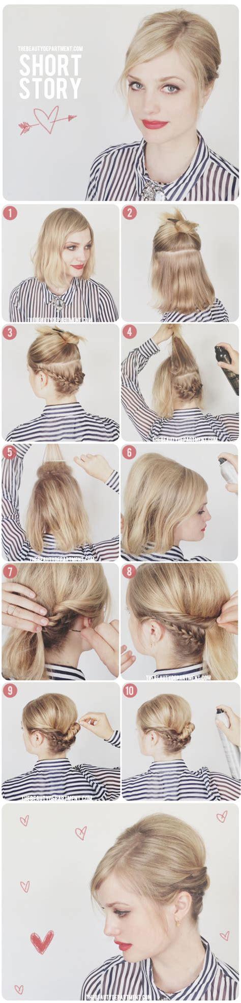 hairstyles short hair tutorial hair tutorials for short hair fashionsy com
