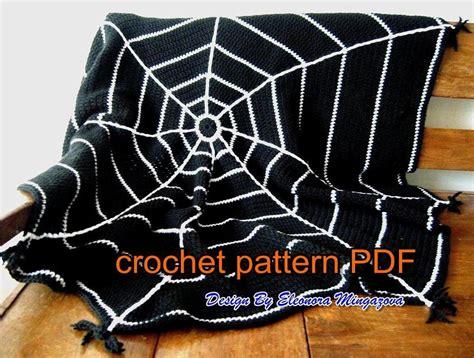 Crochet Spider Web Pattern Blanket | halloween spider web crochet blanket by mingazovart craftsy