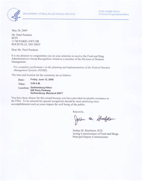 Letter To Bcpi Testimonial Letter From Dept Of Health And Human Services