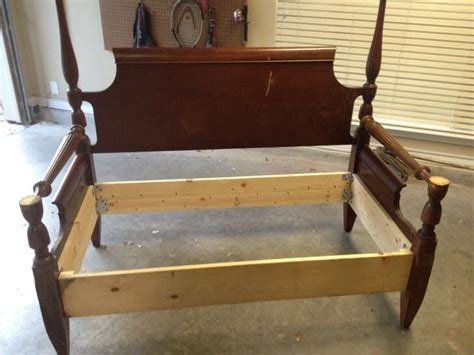 bed headboard bench how to make a bench from an old headboard footboard