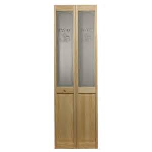 pantry bifold door with a culinary glass design