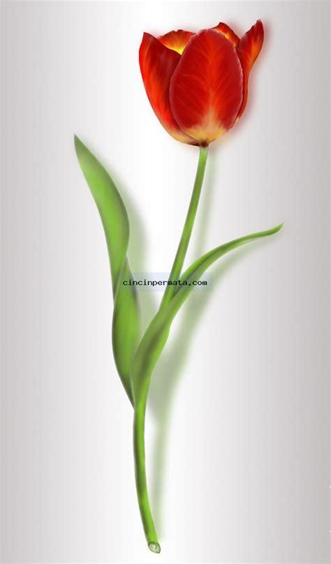 batu gambar sekuntum bunga tulip cincinpermata jual batu permata batu mulia asli murah