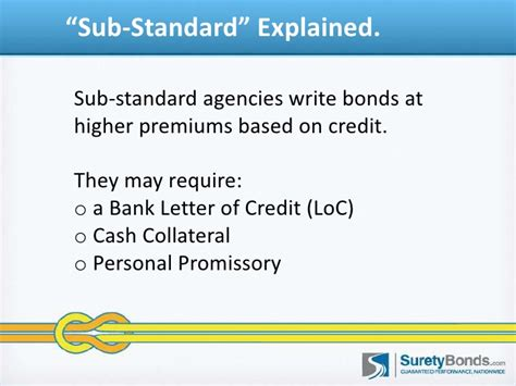 Collateral Letter Of Credit bond qualification problems what should i do