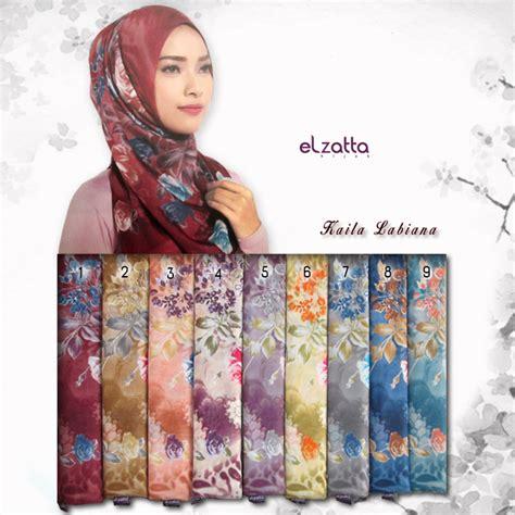 Segiempat Motif jilbab segiempat motif bunga mawar elzatta kaila labiana jual baju gamis murah jilbab model