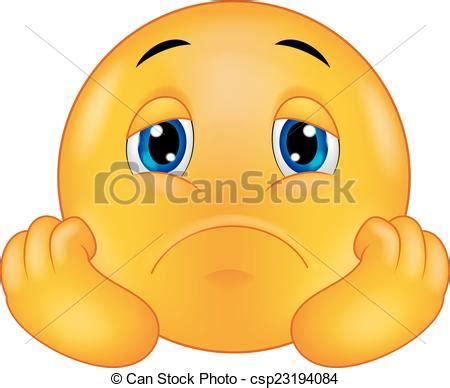 imagenes de tristeza en caricatura vektor von emoticon smiley karikatur traurige vector