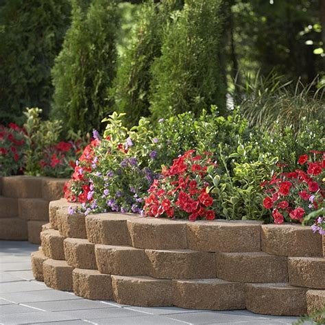lowes landscape blocks landscaping retaining wall blocks lowes images