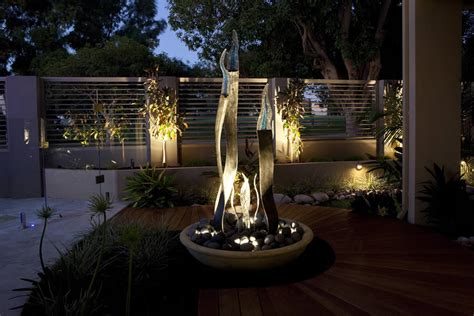 Outdoor Water Features With Lights Water Features Sculptures The Garden Light Company Photo Gallery