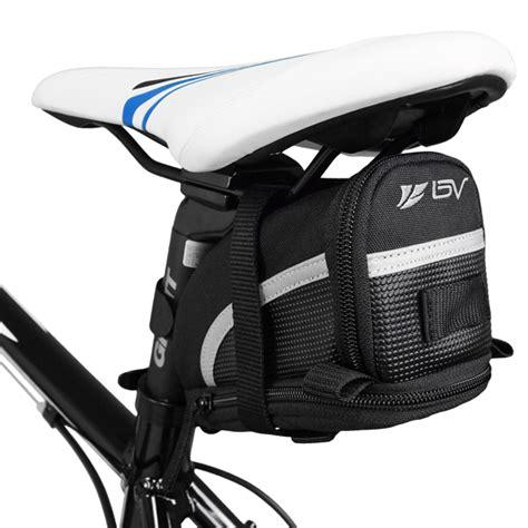 bv bicycle seat on bike bag expandable black medium