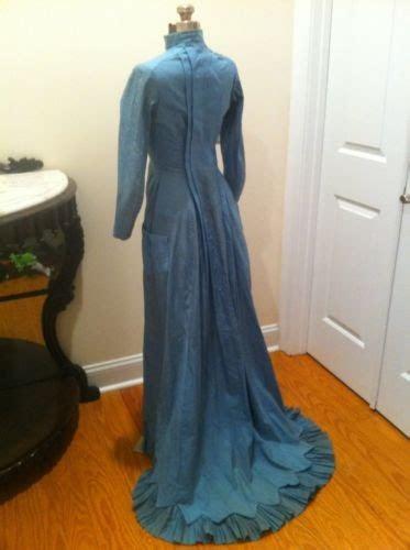 Bj 1880 Blue Sleeveless Dress all the pretty dresses late 1870 s early 1880 s era blue