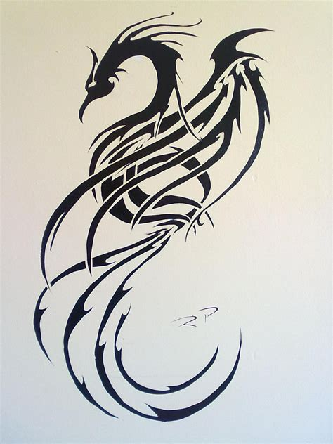 phoenix tattoo little tribal phoenix tattoo just a little ink pinterest