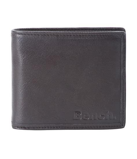 bench wallet for men bench hefty b wallet in gray for men lyst