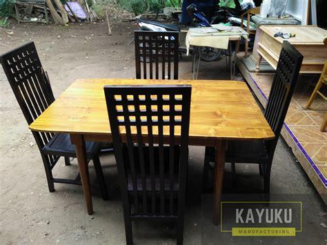Meja Makan Set Minimalis set meja makan jati minimalis mebel jepara furniture