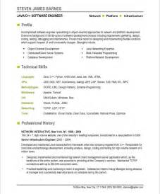 Resume Format For Software Engineer by 10 Resume Sle Software Engineer Professional Writing Resume Sle